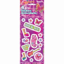 Rock On Sticker Sheets, 4ct