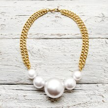 DIY Chunky Pearl Statement Necklace