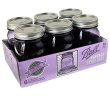 Ball Heritage Collection Purple Pint Jars, 6 Pack