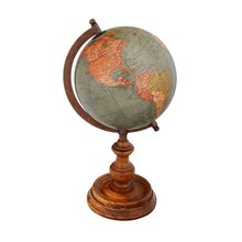 Studio Décor Viewpoint Heritage Home Globe With Wood Base