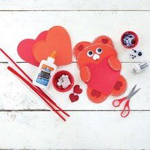 Kids' Foam Heart Bear