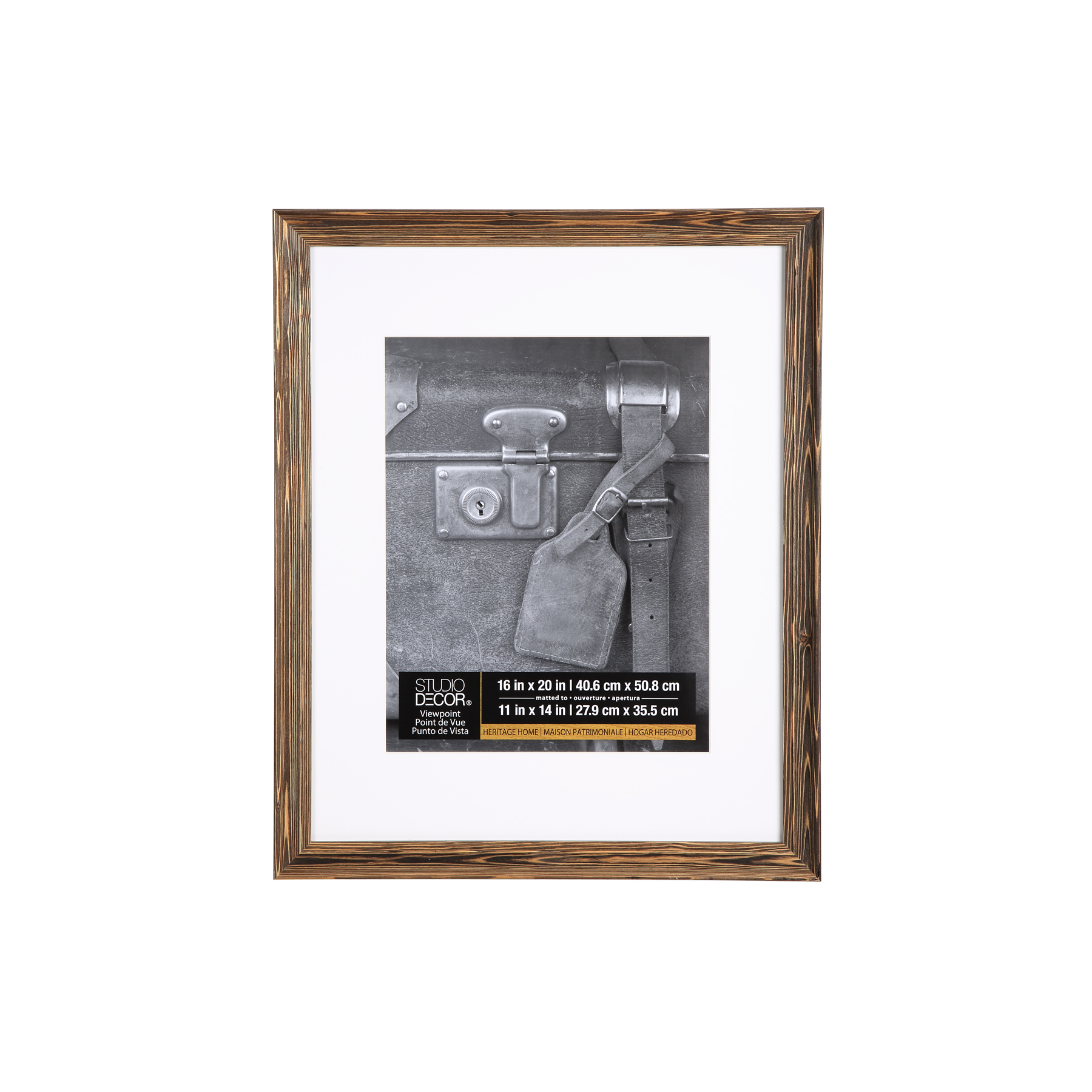 Studio décor viewpoint heritage home wood grain frame