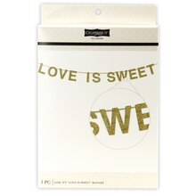 Celebrate It Occasions Gold Banner, Love is Sweet