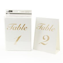 Celebrate It Occasions Numbered Table Tent Cards, Gold Foil