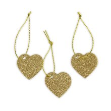Celebrate It Occasions Gold Glitter Charms, Heart