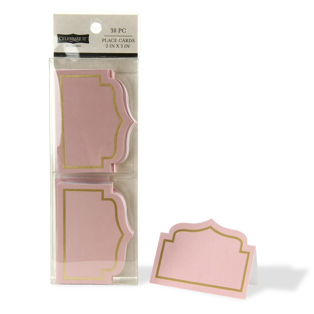 celebrate it occasions place cards blush. Black Bedroom Furniture Sets. Home Design Ideas
