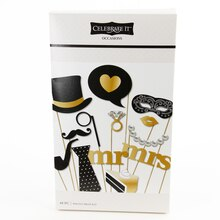 Celebrate It Occasions Photo Prop Kit, Mr. & Mrs.