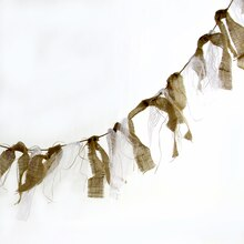 Celebrate It Occasions Burlap & Lace Tassel Garland, Hanging