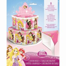 Disney Princess Favor Box Centerpiece Decoration, 8pc
