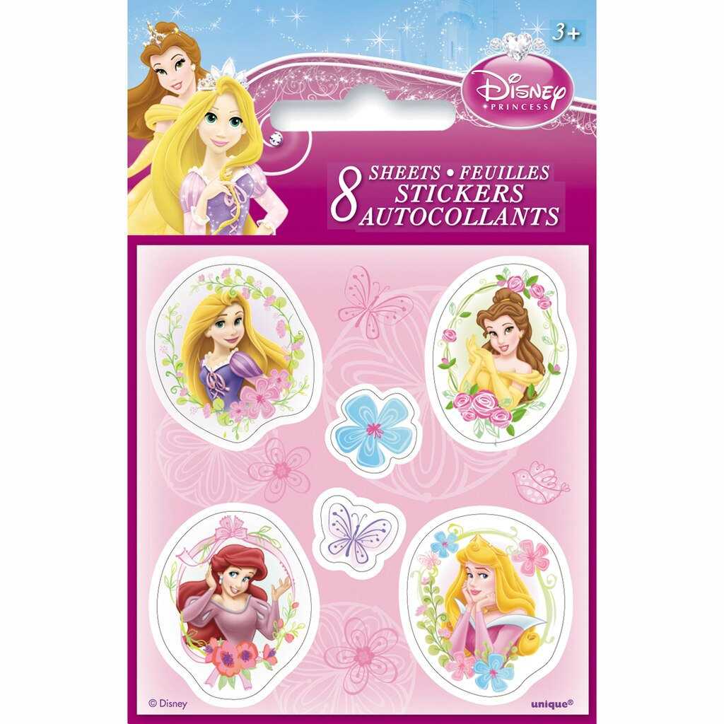Mini Disney Princess Sticker Sheets 8ct