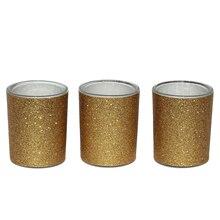 Celebrate It Occasions Votive Holders, Gold Glitter