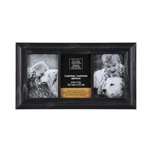 Studio Décor Heritage Home Black Wash Collage Frame, 3 Openings