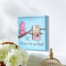 """Owl' Always Love You Nana"" Photo Canvas, medium"