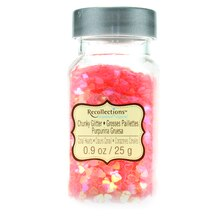 Recollections Signature Super Chunky Glitter, Coral Hearts