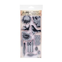 Tim Holtz Cling Stamp Set, Nature