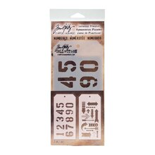 Tim Holtz Layering Stencils, Numbered