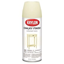 Krylon Chalky Finish Paint, Colonial Ivory