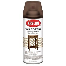 Krylon Chalky Finish Wax Coating, Dark Brown