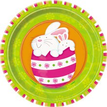 "7"" Bunny Pals Easter Dessert Plates, 8ct"