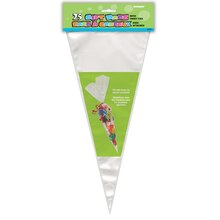 Large Clear Cone Cellophane Bags, 25ct