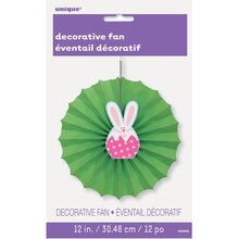 Easter Bunny Tissue Paper Decorative Fan, 12""