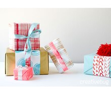 DIY Painted Holiday Gift Wrap
