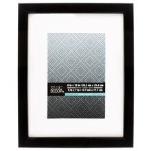 "Studio Décor Aspect Collection Black Frame With Mat, 5"" x 7"""
