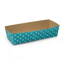 "Celebrate It Rectangular Loaf Baking Pans, 7"", Turquoise Dot"