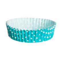 "Celebrate It Ruffled Baking Cups, 4"", Turquoise Dot"