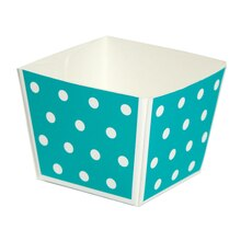 Celebrate It Cube Baking Pans, Turquoise Dot