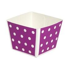 Celebrate It Cube Baking Pans, Purple Dot