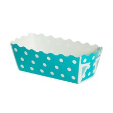 "Celebrate It Mini Loaf Baking Pans, 3"", Turquoise Dot"