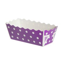 "Celebrate It Mini Loaf Baking Pans, 3"", Purple Dot"