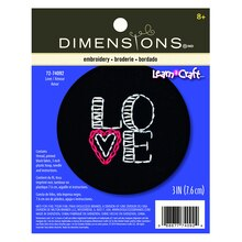 Dimensions Needlecrafts Love on Black Embroidery Kit