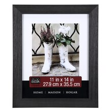 """Studio Décor Home Collection Distressed Frame, Black 11"""" x 14"""""""
