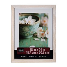 "Studio Décor Home Collection Distressed Frame, White 18"" x 24"""