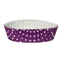 "Celebrate It Ruffled Baking Cups, 4"", Purple Dot"