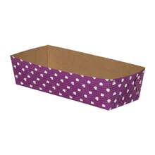 "Celebrate It Rectangular Loaf Baking Pans, 7"", Purple Dot"
