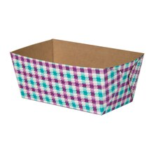 "Celebrate It Rectangular Loaf Baking Pans, 4 1/2"", Purple & Turquoise Gingham"