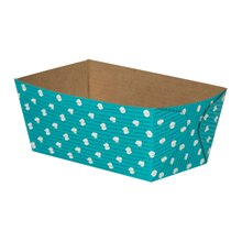 "Celebrate It Rectangular Loaf Baking Pans, 4 1/2"", Turquoise Dot"