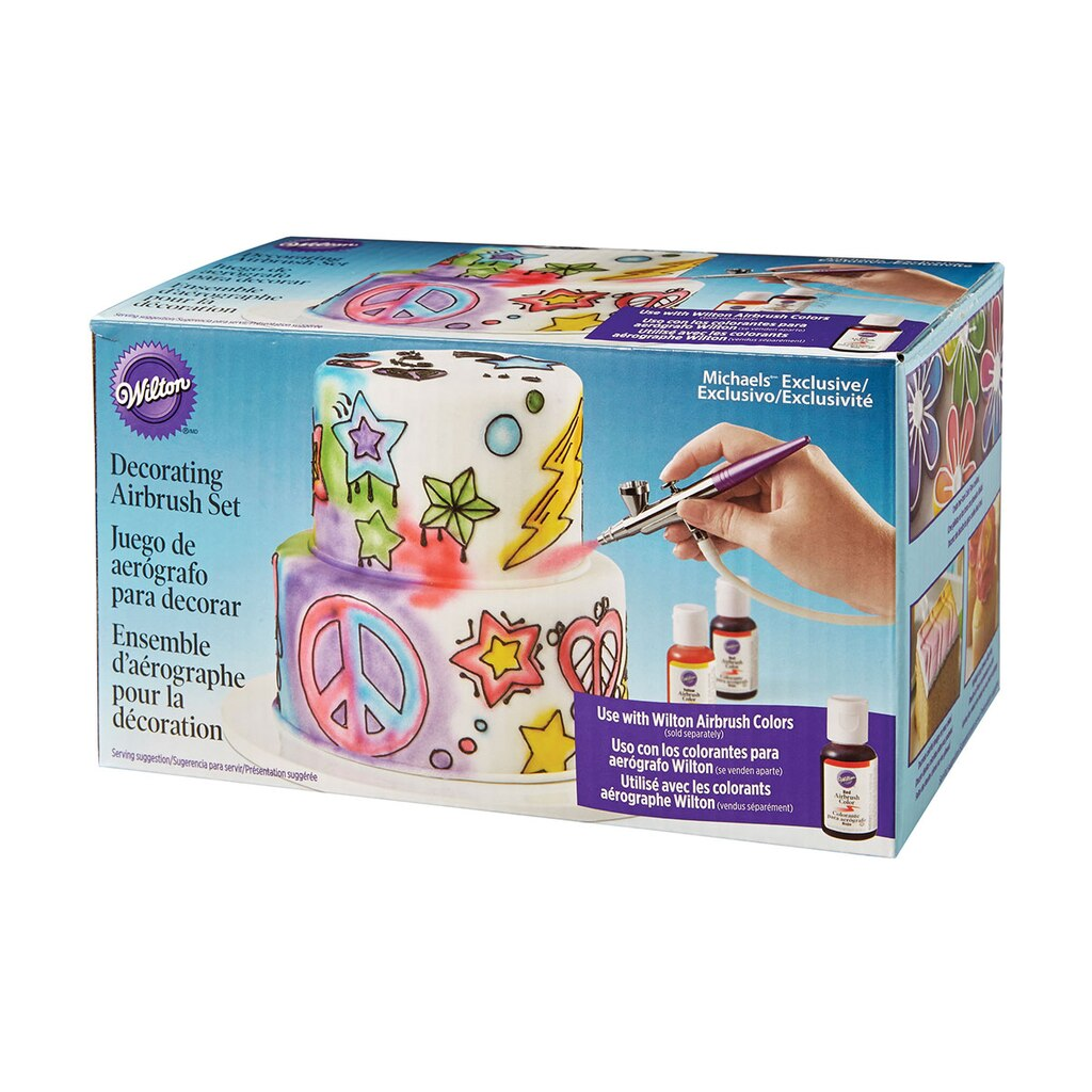 Wilton decorating airbrush set for Michaels craft store cake decorating classes