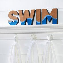 "Make Market™ Coastal: Painted Cork ""SWIM"" Letters"