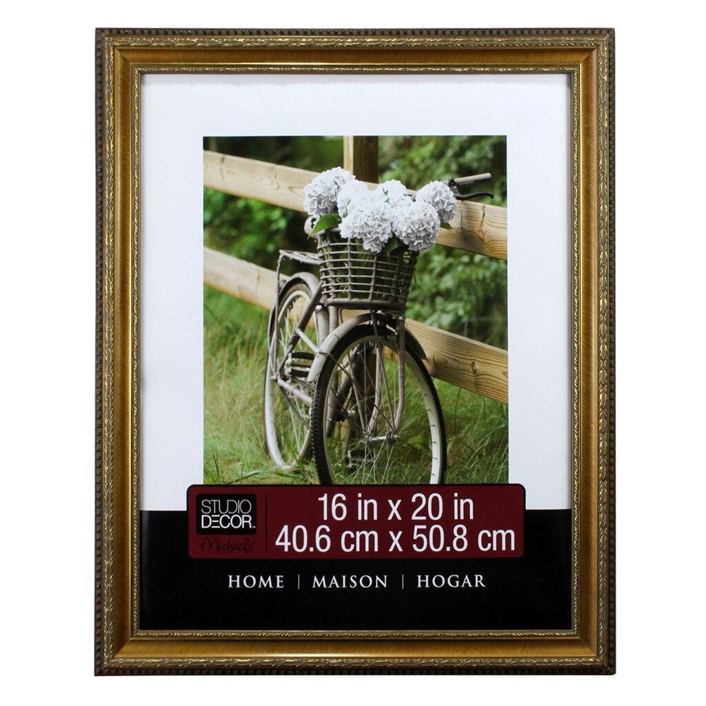 Studio D Cor Home Collection Gold Pompeii Frame 16 X 20