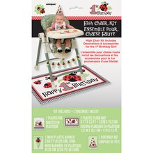 Lively Ladybugs First Birthday High Chair Decorating Kit packaging