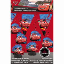 Disney Cars Decoration Kit, 7pc packaging