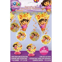 Dora the Explorer Party Decoration Kit, 7pc packaging