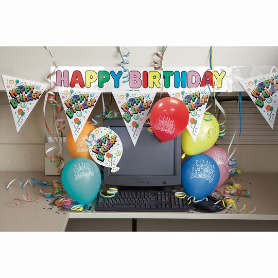 Cubicle Décor Ideas To Make Your Home Office Pop: Happy Birthday Office Cubicle Decoration Kit