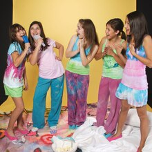 Tie-dyed pajama party