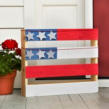 Red, White & Blue Flag Painted Wood Pallet