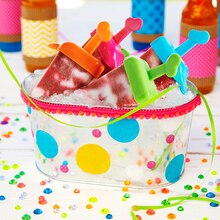 Party: Polka Dot Galvanized Tub